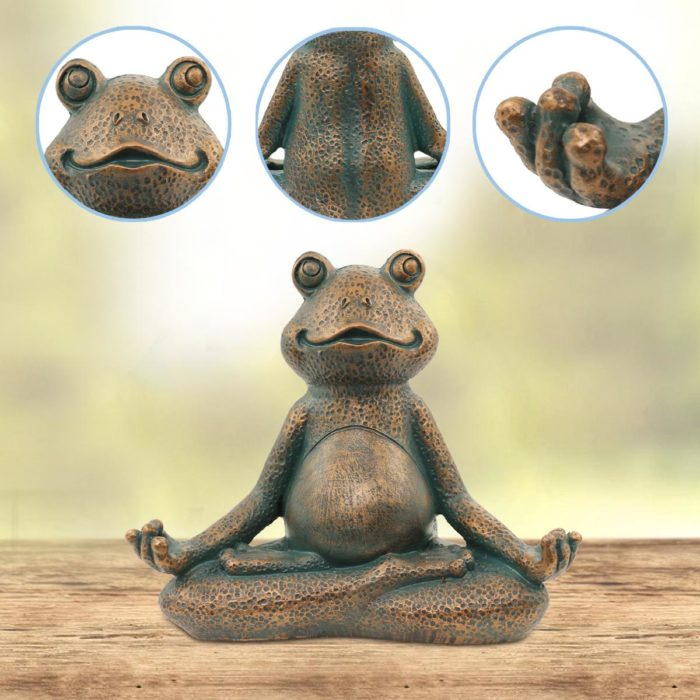Yoga Frog Statue Resin Garden Decor