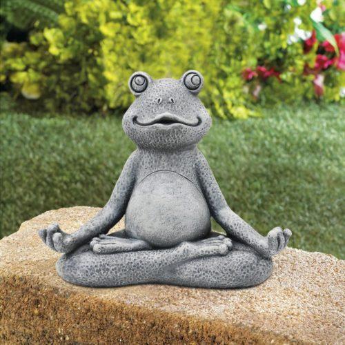 Yoga Frog Statue Resin Garden Decor