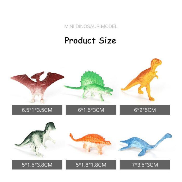 Rubber Dinosaurs 10-Piece Set
