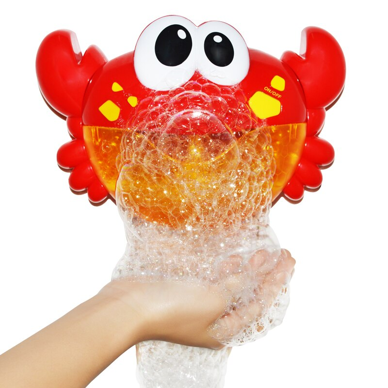 Bubble Crabs Baby Bath Toy Funny Toddler Bath Bubble Maker Pool Swimming Bathtub Soap Machine Toys for Children Gift