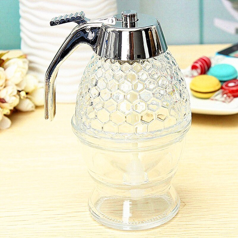 Squeeze Bottle Honey Jar Container Bee Drip Dispenser Kettle Storage Pot Stand Holder Juice Syrup Cup Home Decoration Accessorie