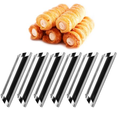 Cannoli Molds Stainless Steel Cones (6pcs)