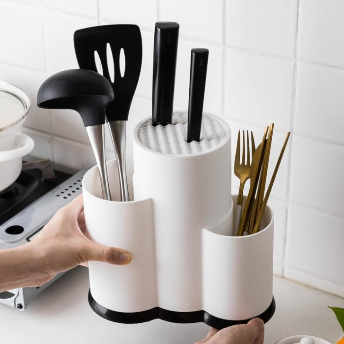 Utensil Holder Kitchen Drainer Organizer