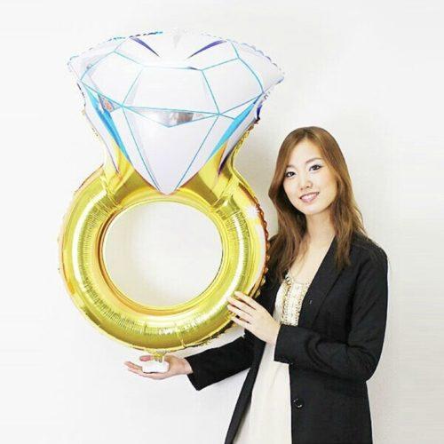 Engagement Ring Balloon Foil Balloon