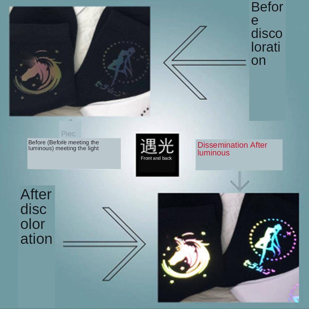 Japan Harajuku Night Reflection Light Socks Funny Cartoon Socks Fashion Cute Socks Street Style Hip-hop Skateboard Socks