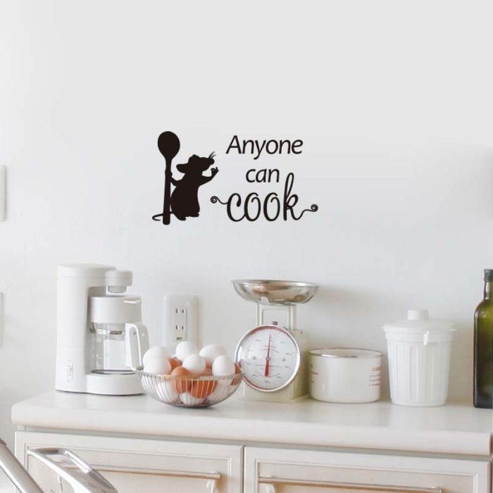 Kitchen Wall Decal Cooking Mouse Sticker