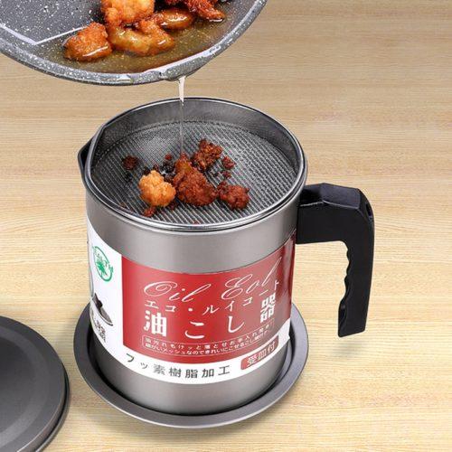 Stainless Steel Oil Strainer Pot