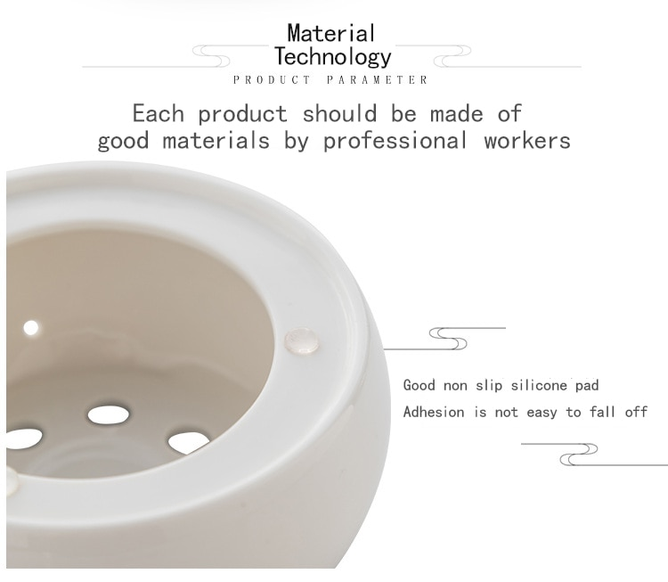 Ceramic Candle Heater Tea Pot Heating Base Portable Teapot Warmer Holder Insulation Base Candle Holder Tea Accessories