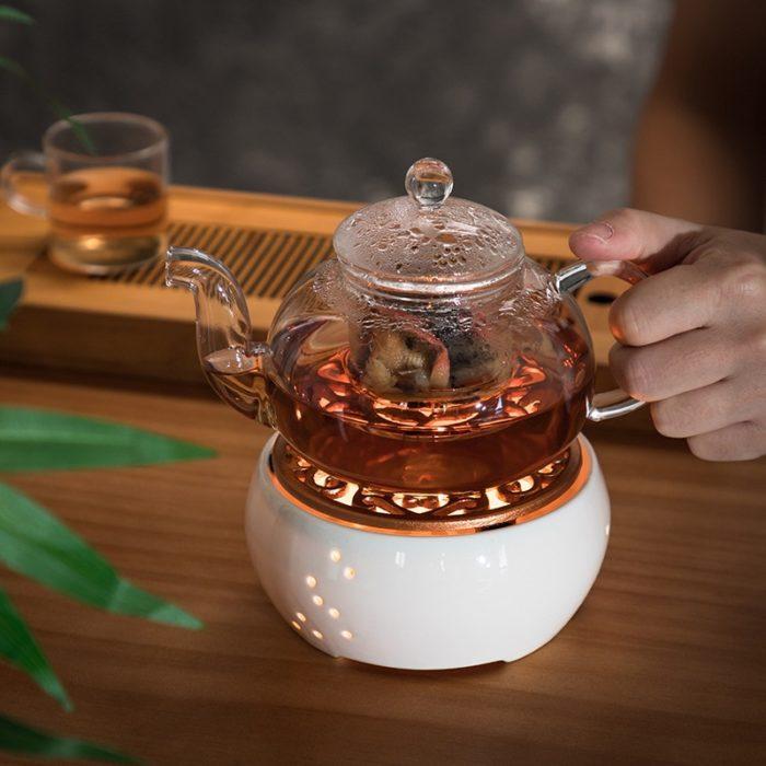 Teapot Warmer Ceramic Candle Heater