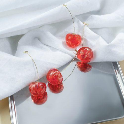 Cherry Drop Earrings Cute Fruit Earrings
