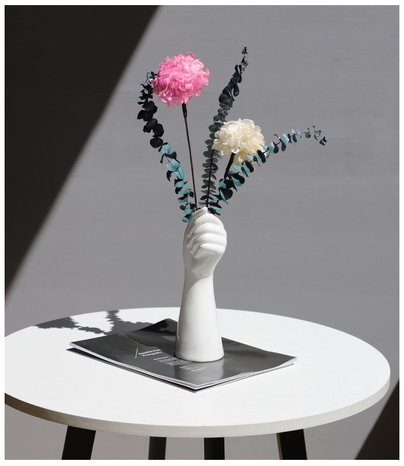 Nordic style A Hand Vase Flowers Modern Home Office Decor of Creative Floral Composition living room Ornament ceramics vase