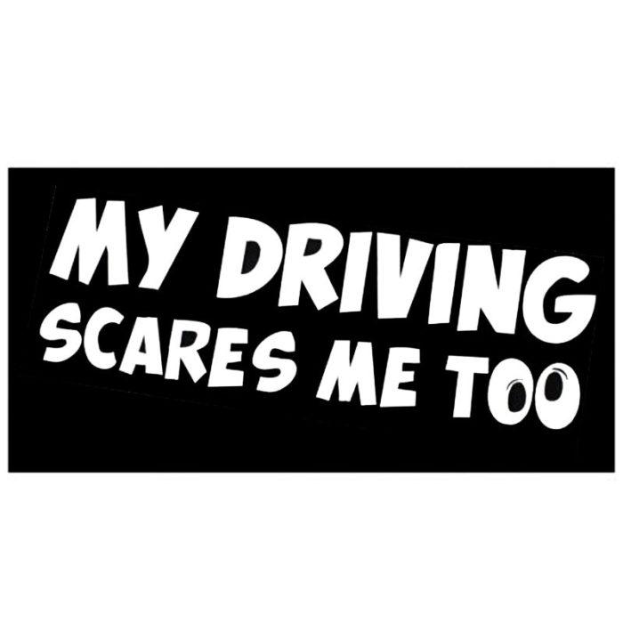 Funny Car Window Decal Warning Sticker