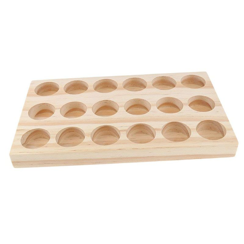 2020 New selling Wooden Essential Oil Tray Handmade Natural Pine Wood Display Rack Demonstration Station
