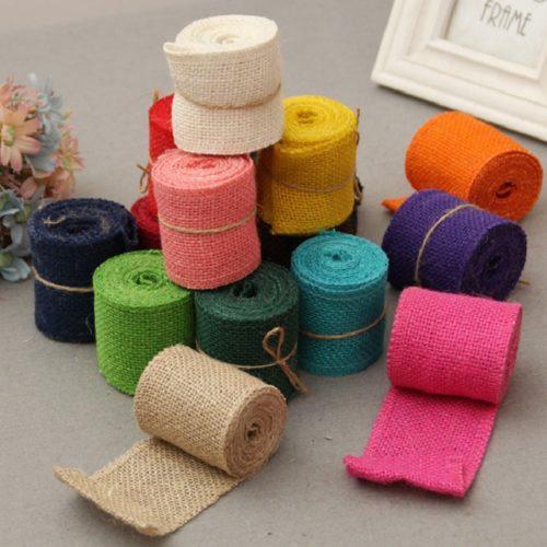 Burlap Ribbon DIY Jute Ribbon (2M)
