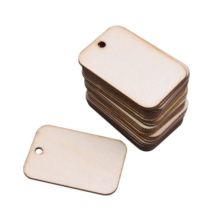 Wooden Tags Blank Labels (50pcs)