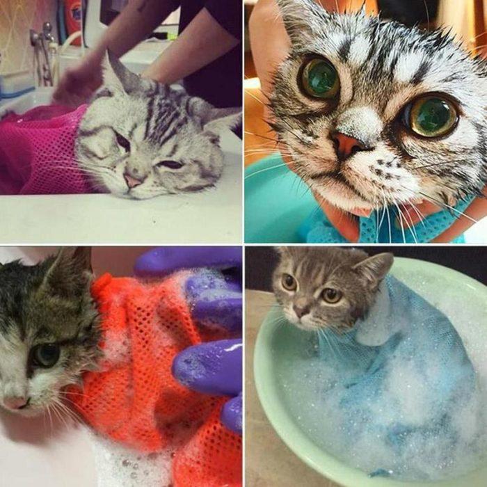 Cat Bag For Bathing Pet Shower Bag