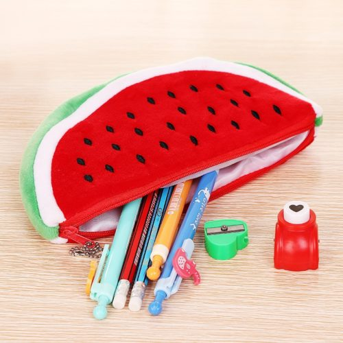 Watermelon Pencil Case Cute Plush Pouch