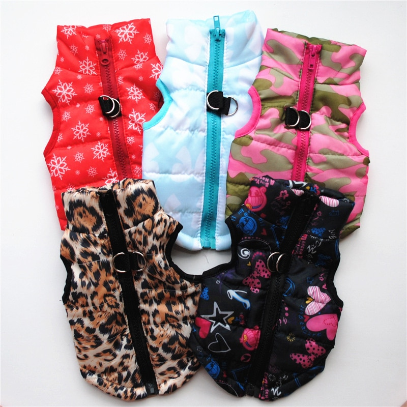 Pet Clothes Puppy Outfit Vest Warm Dog Clothes For Small Dogs Winter Windproof Pets Dog Jacket Coat Padded Chihuahua Apparel 20
