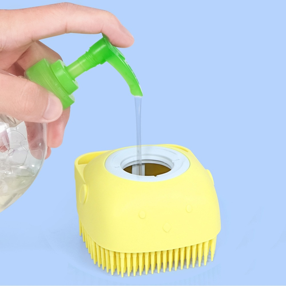 Silicone Head Massage Brush Body Shampoo Scalp Massage Brush Comb Hair Washing Comb Shower Foot Scrubber Brush Bathroom Supplies
