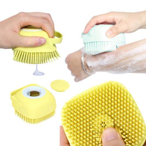 Silicone Bath Scrubber Shower Gel Brush