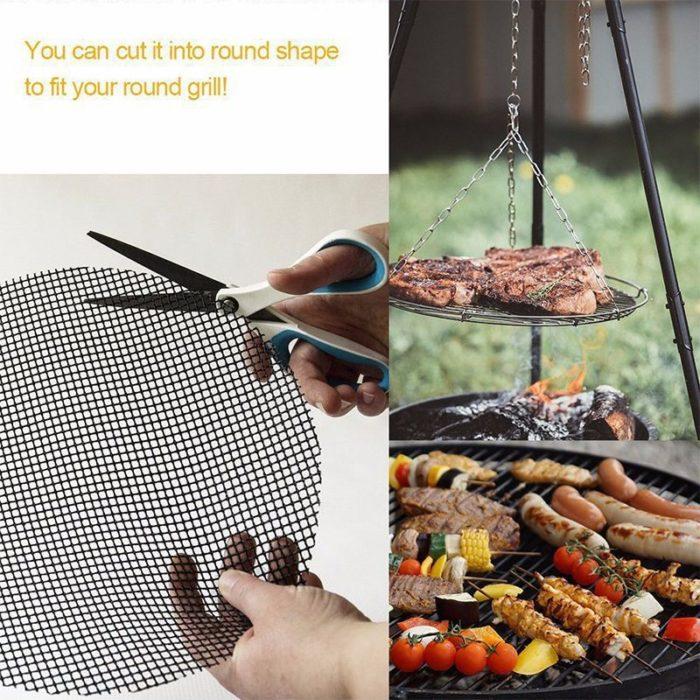BBQ Grill Mesh Mat Nonstick Grid