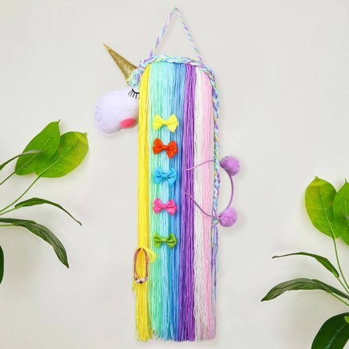 Unicorn Bow Holder Barrette Organizer