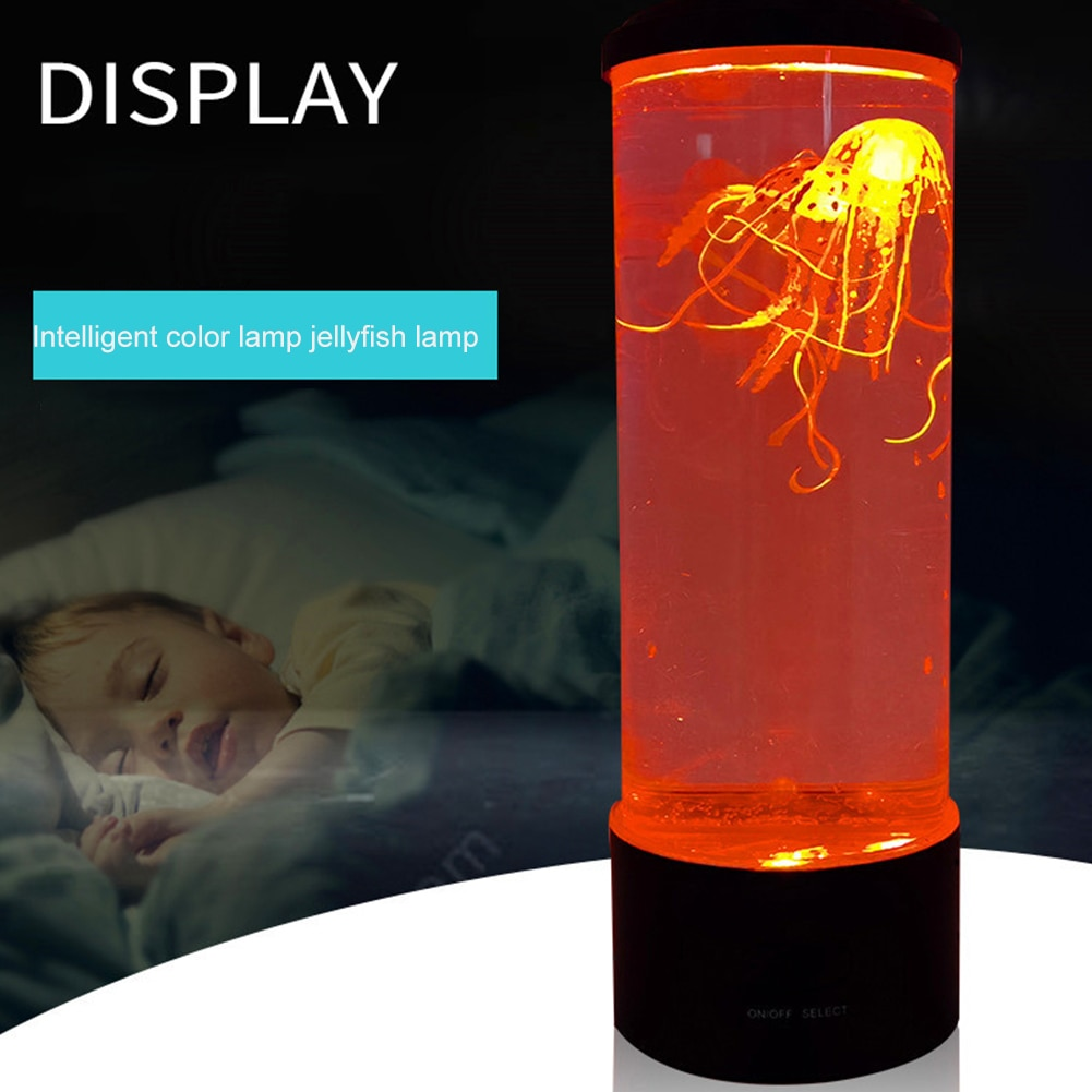 LED Fantasy Jellyfish Lamp USB Power/Battery Powered Color Changing Jellyfish Tank Aquarium Led Lamp Relaxing Mood Night Light