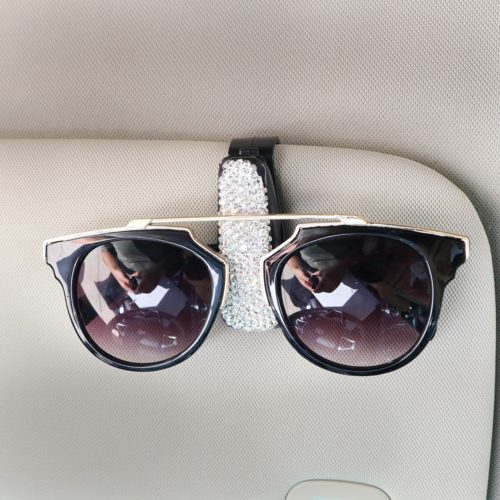 Sunglass Clip for Car with Rhinestone