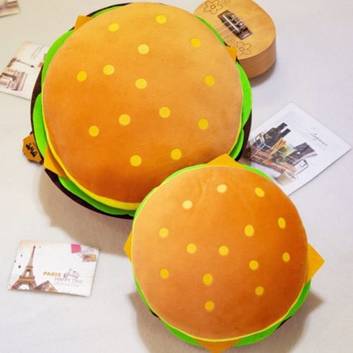 Hamburger Pillow Plush Stuffed Toy