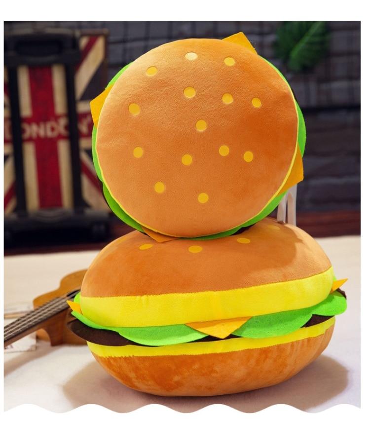 New Plush toys hamburger shape pillow creative funny plush toy doll cushion pillow child gift realistic hamburger stuffed toys