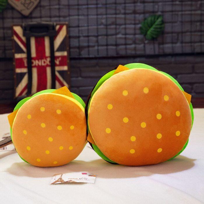 Hamburger Pillow Plush Stuffed Toy