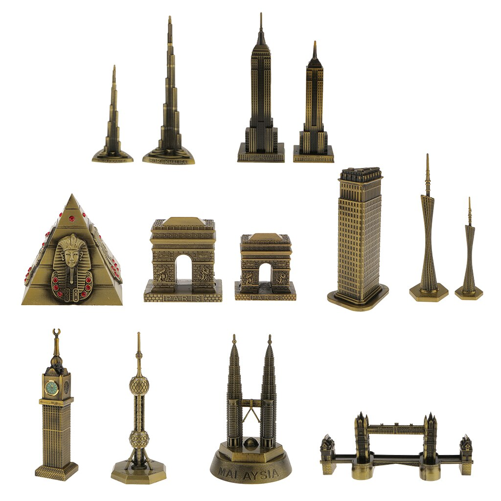 22cm Creative Handmade Empire State Building Model Home Shelf Decor Figurine Statue Gift