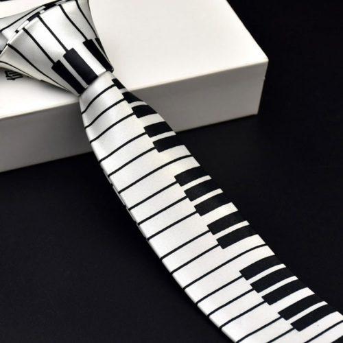 Piano Key Necktie Classic Accessory