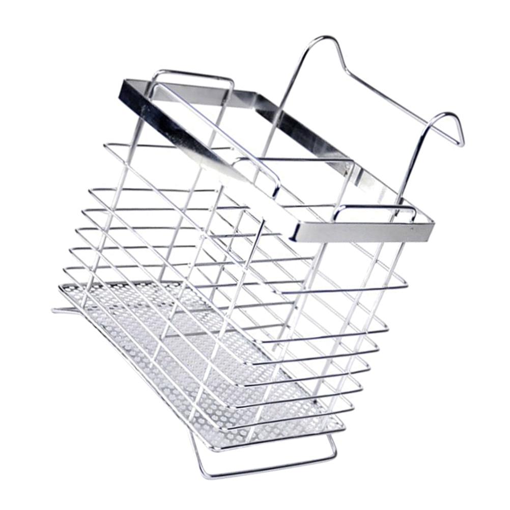 Stainless Steel Rectangular Hanging Utensil Drying Rack Chopsticks Spoons Drainer Basket Flatware Storage Drainer Kitchen