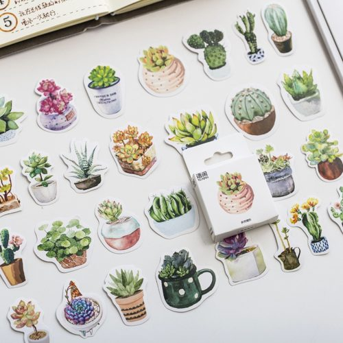 Plant Stickers Paper Stickers (50pcs)