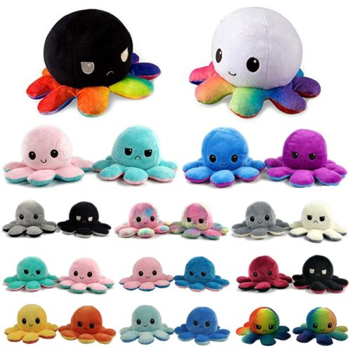 Octopus Reversible Plush Flip Toy