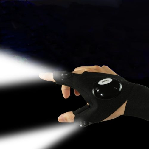 LED Flashlight Glove Open Tip Glove
