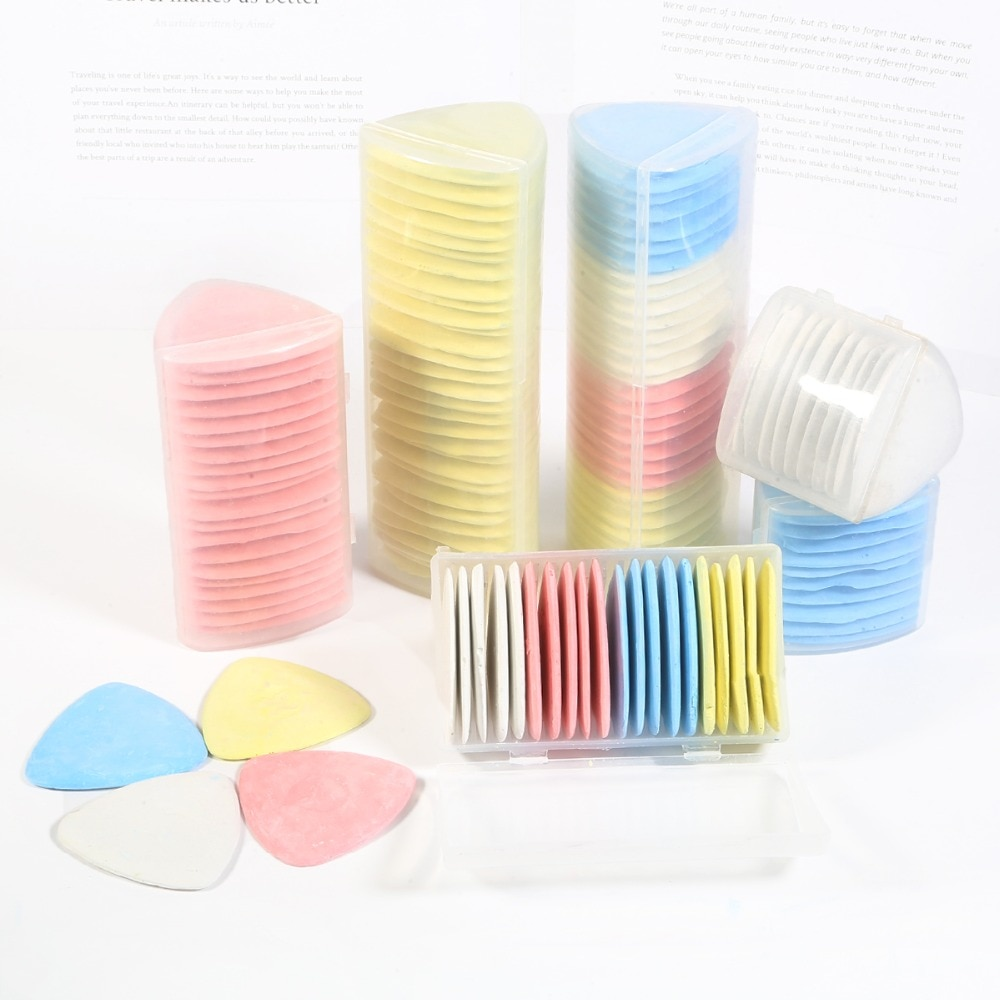 10/20/30PCS Colorful Erasable Fabric Chalk Tailors Dressmaker Sewing Markers Patchwork DIY Clothing Tool Needlework Accessories