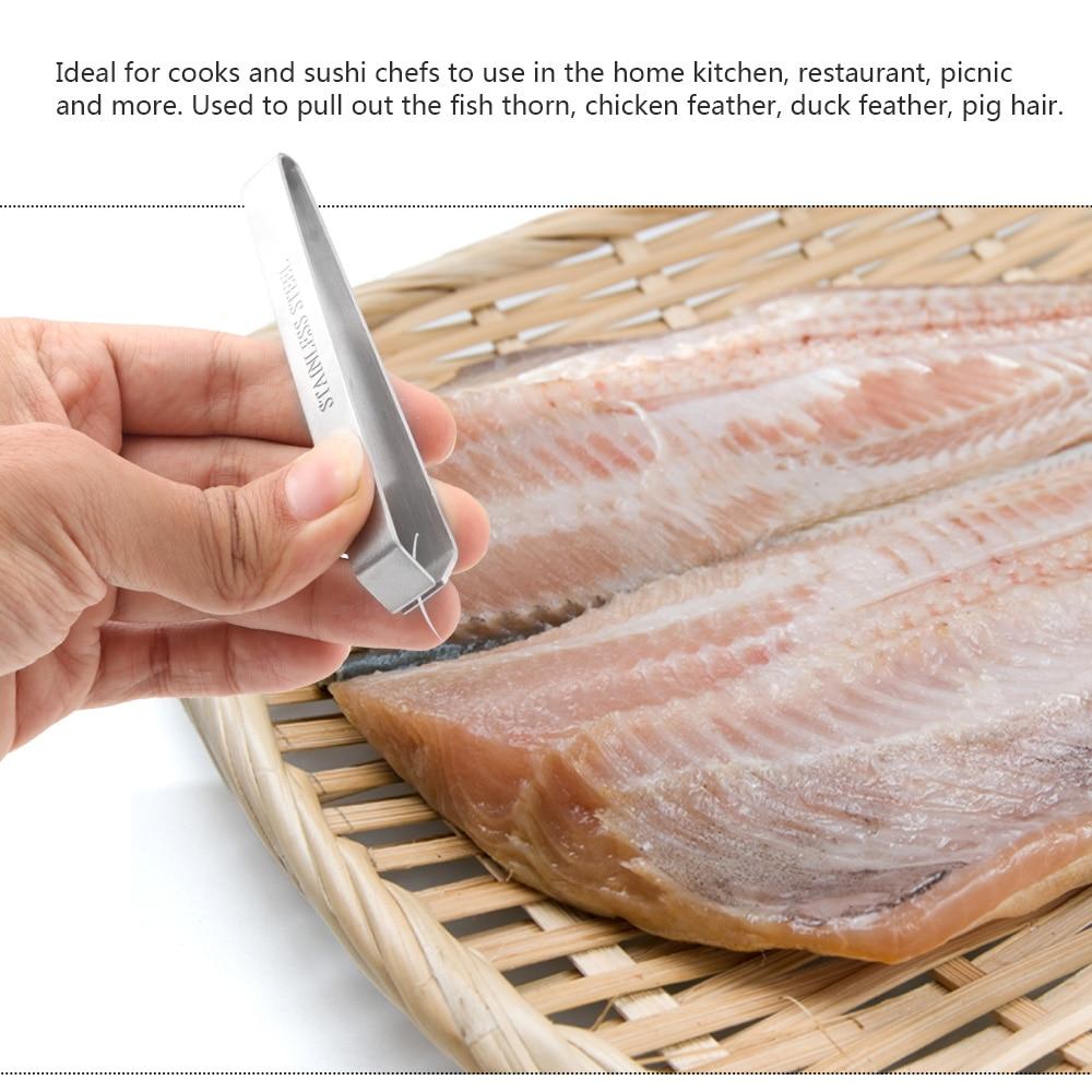 Seafood Tool Tweezer Stainless Steel Fish Bone Tweezers Remover Pincer Puller Tongs Pick-Up Kitchen Pick-Up Crafts 1PC