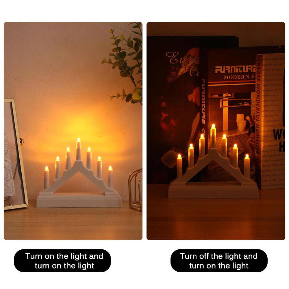 1 PC Christmas Tree Candle Bridge Light Bridge Shape LED Night Light Bridge Shape Table Lamp - No Battery (Random Color)