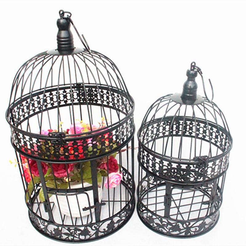 Modern Metal Bird Cage European Wrought Iron Bird Cage Wedding Decoration Flower Cage Ornaments Flower Pot Succulent Bird Cage