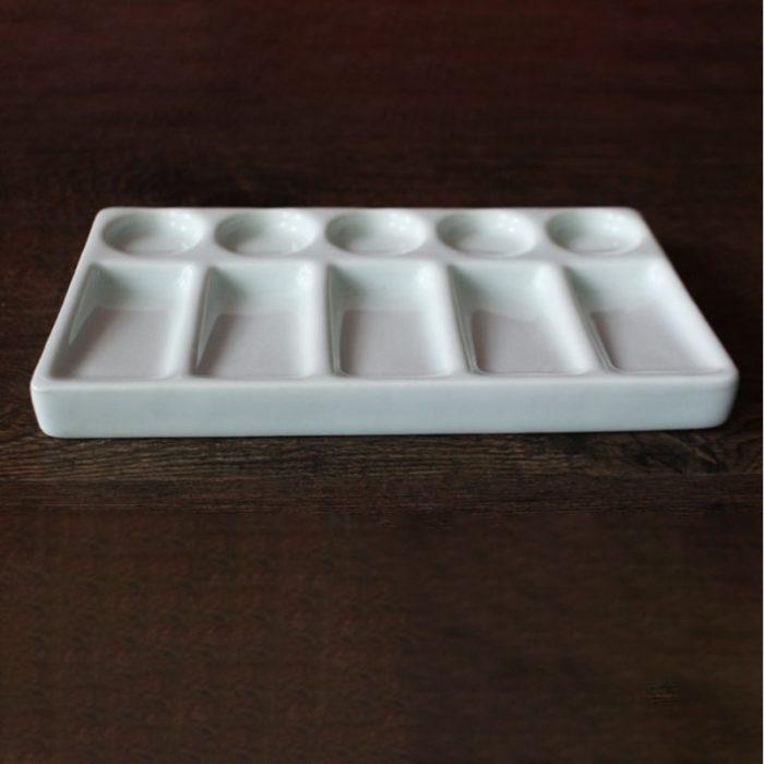 Ceramic Paint Palette 10-Hole Tray