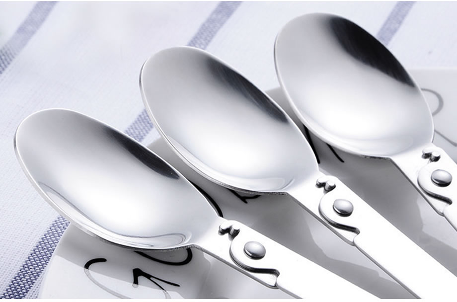 OBR Stainless Steel Folding Spoon Portable Travel Tableware Soup Spoon Ice Cream Dessert Spoon Coffee Tea Spoon Kitchen Tool