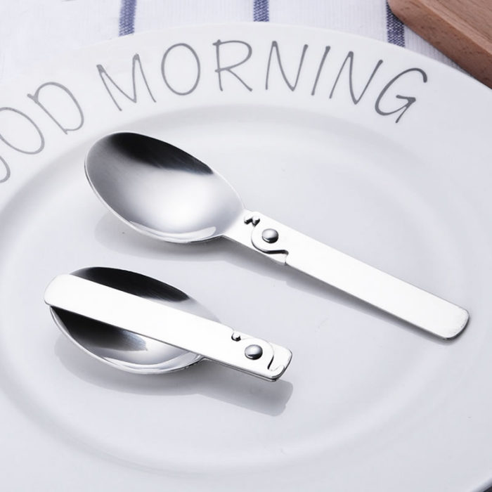 Folding Spoon Portable Stainless Steel Spoon