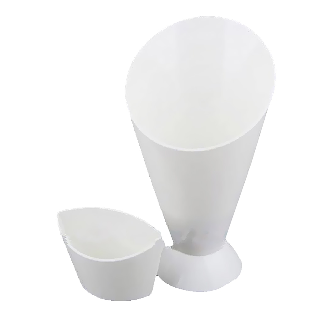 Kitchen Serving Tool Snack Cone Stand + Dip Holder For Chips Finger Food Sauce White Fries Dip and Cone Cup Snack Holder Serving