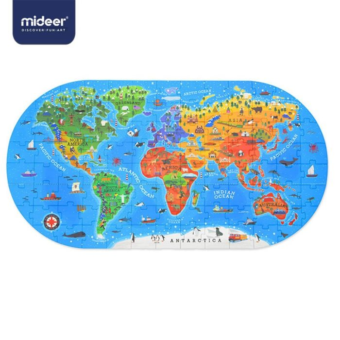 World Map Puzzle for Kids (100 pcs)