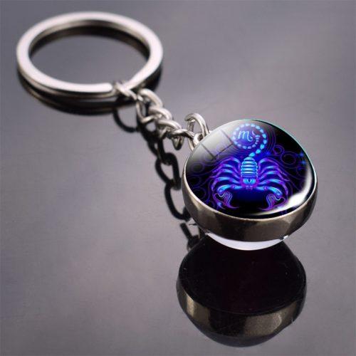 Zodiac Keychain Constellation Ball Keychain