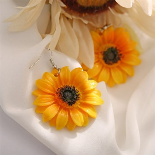 Sunflower Earrings Lovely Drop Earrings