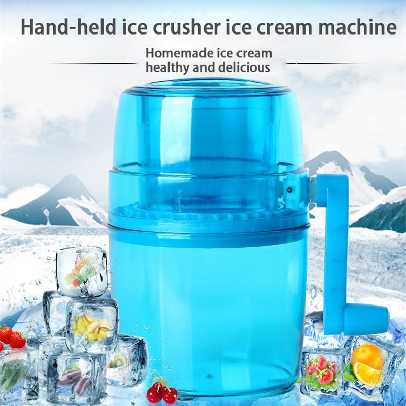 Portable Manual Ice Crusher Household Hand Shaved Ice Machine Shredding Snow Cone Maker Machine Kitchen Ice machine