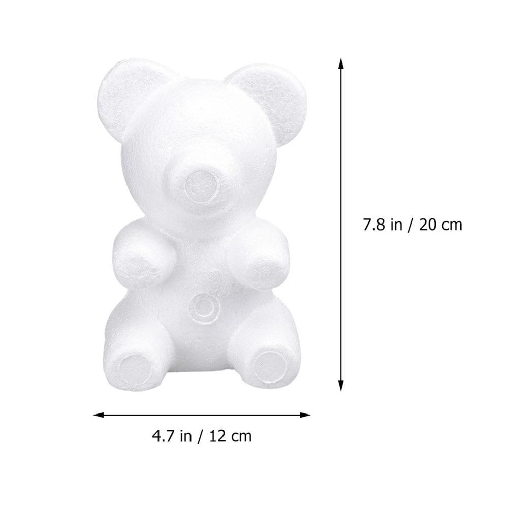 3pcs 20cm Artificial Flowers Foam teddy bear of roses Mold DIY Gifts Polystyrene Styrofoam wedding Valentine's Day present